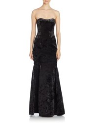 Black Halo Roslyn Trumpet Gown Black