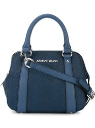 Armani Jeans Small Two Handle Crossbody Bag Blue