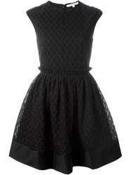 Carven Full Skirt Mini Dress Black