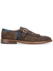 Doucal's Fringed Buckle Loafers Brown