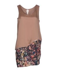 Anne Valerie Hash Short Dresses Light Brown