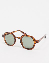 Jeepers Peepers Round Sunglasses In Tort Brown