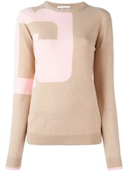 Paco Rabanne Two Tone Jumper Nude And Neutrals