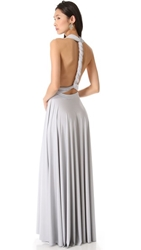 Twobirds Convertible Maxi Dress Light Silver