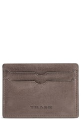 Trask Canyon Leather Card Case Grey