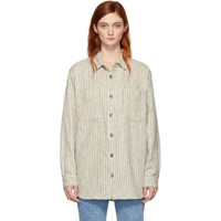 Etoile Isabel Marant Off White Paulie Japanese Workwear Shirt