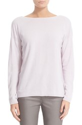 Lafayette 148 New York Women's V Back Cashmere Sweater Iced Violet