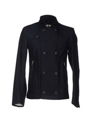 Tru Trussardi Coats And Jackets Jackets Men Dark Blue