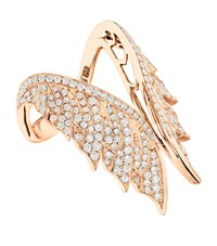 Stephen Webster Magnipheasant Pave Open Feather Ring Female Gold