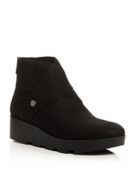 Eileen Fisher Tread Platform Wedge Booties Black