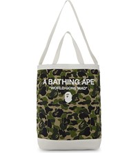 A Bathing Ape Camouflage Cotton Shoulder Tote Green