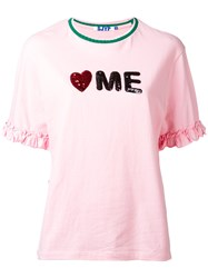 Steve J And Yoni P Slogan T Shirt Women Cotton M Pink Purple