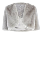 Coast Bleeker Faux Fur Cover Up Silver