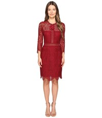 The Kooples Mix Openwork Lace Red