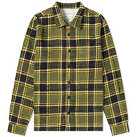 Officine Generale Japanese Check Sol Overshirt Green