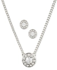 Givenchy Silver Tone Necklace And Earring Set