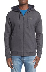 Lacoste Men's Fleece Zip Hoodie Dark Grey Jaspe Cosmos