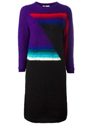 Kansai Yamamoto Vintage Geometric Wool Dress Multicolour