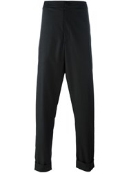 Alchemy Tailored Drop Crotch Trousers Black