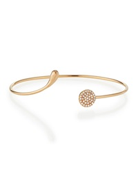 White Diamond Circle Bangle Diane Kordas