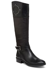 Vince Camuto Phillie Contrast Leather Boots Black Brown