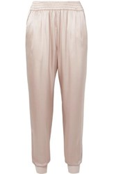 Cami Nyc The Sadie Silk Charmeuse Track Pants Sand