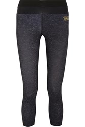 Monreal London Tribal Cropped Stretch Jersey Leggings Black