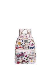 Anya Hindmarch 'All Over Sticker' Mini Embossed Leather Backpack Multi Colour