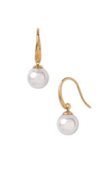 Majorica 10Mm Pearl Drop Earrings White Gold