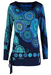 Desigual Calima Long Sleeved Top Navy Blue