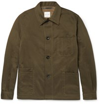 Paul Smith Cotton And Linen Blend Twill Jacket Green