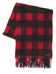 Dsquared Check Wool And Alpaca Blend Scarf