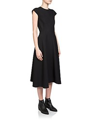 Carven Jersey Knit Midi Dress Black
