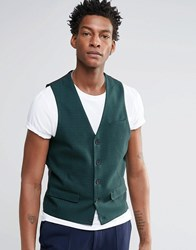 Asos Vest In Green Check Green