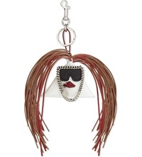 Stella Mccartney Rooster Faux Leather Keyring White