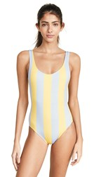 Solid And Striped Anne Marie One Piece Light Blue Tweety Stripe