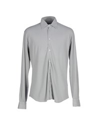 Fedeli Shirts Shirts Men Grey