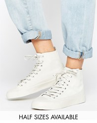 Asos Doola High Top Sneakers Gray
