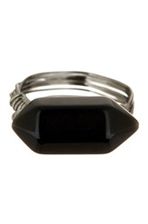Free Press Agate Wire Ring Black