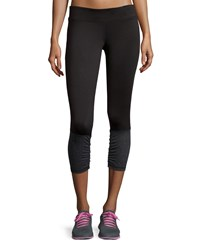 Neiman Marcus Colorblock Ruched Leggings A S
