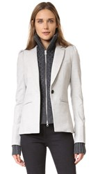 Veronica Beard Bodega Blazer With Charcoal Upstate Dickey Light Grey