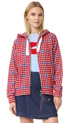 Jour Ne Tartan Hooded Jacket Red