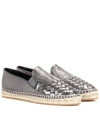 Bottega Veneta Intrecciato Metallic Leather Espadrilles