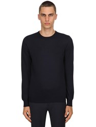 Tagliatore Wool Knit Sweater Navy