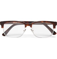 Cutler And Gross Square Frame Tortoiseshell Acetate And Metal Optical Glasses Brown