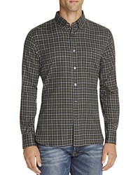 Todd Snyder Heather Check Regular Fit Button Down Shirt Green