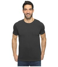 Agave Duke Short Sleeve Crew Rough Cut Jersey Stretch Limo Men's Clothing Black