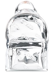 Heron Preston Printed Backpack Metallic
