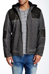 X Ray Fleece Lined Faux Leather Trim Jacket Gray