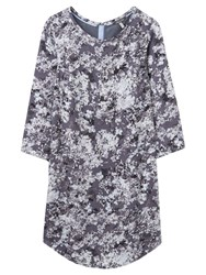 Joules Martha Printed Tunic Dress Grey Floral
